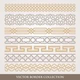 Islamic Seamless geometric Border set Stock Images