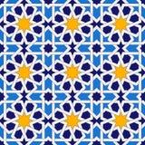 Islamic seamless pattern. Oriental geometric ornaments, traditional arabic art. Muslim mosaic. Mosque decoration element Vector Illustration