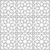 Islamic seamless vector. Islamic line pattern. Seamless vector geometric linear background in arabian style royalty free illustration