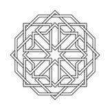 Islamic seamless vector. Islamic pattern. Vector geometric lattice mandala in arabic style royalty free illustration