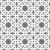 Islamic seamless vector pattern. White Geometric ornaments based on traditional arabic art. Oriental muslim mosaic Royalty Free Stock Image