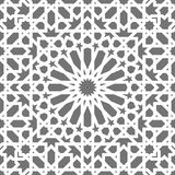 Islamic seamless vector pattern. White Geometric ornaments based on traditional arabic art. Oriental muslim mosaic Royalty Free Stock Photos
