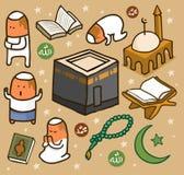 Islamic set flat. Hand drawn Vector illustration Royalty Free Stock Photos