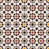 Islamic shapes seamless pattern. Abstract pattern of indonesian batik Royalty Free Stock Image