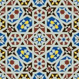 Islamic shapes seamless pattern Royalty Free Stock Photo