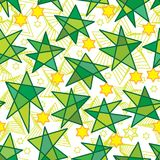 Islamic six star drop six star seamless pattern. This illustration is design and drawing stylish Ramadan Islamic six stars and stylish lines on white color Royalty Free Stock Photography