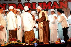 Islamic spiritual leaders. Held a meeting in the city of Solo, Central Java, Indonesia Royalty Free Stock Image