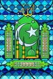 Islamic Stained Glass Painting Royalty Free Stock Photos