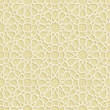 Islamic Star Gold Pattern Stock Photography