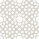 Islamic star grey lines with white background, Traditional Design Stock Photography