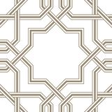 Islamic star grey lines with white background, Traditional Design Stock Photos