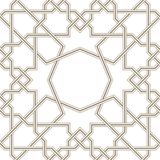 Islamic star grey lines with white background, Traditional Design Stock Photo