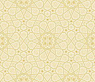 Islamic Star Ornament Golden Background Royalty Free Stock Images