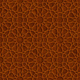 Islamic Star Pattern with Brown Grunge Background. Vector Illustration stock illustration