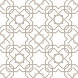Pattern_01Islamic star pattern grey lines with white background Stock Photography
