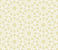 Islamic Star Pattern with light background. Vector Illustration Stock Photography