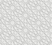 Islamic star pattern on white Background Stock Photography