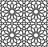 Islamic Star Seamless Pattern B&W Royalty Free Stock Images