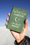Islamic State Passport vertical Stock Photography