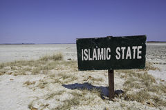 Islamic state sign Royalty Free Stock Image