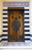 ISLAMIC STYLE DOOR. With marble wall in Cairo,Egypt Stock Image