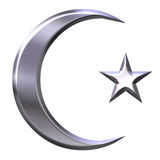 Islamic Symbol. Isolated in white Stock Photography