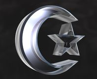 Islamic Symbol in glass - 3d Royalty Free Stock Image