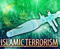 Islamic terrorism Abstract concept digital illustration Royalty Free Stock Photos