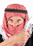 Islamic terrorist with knife Stock Photography