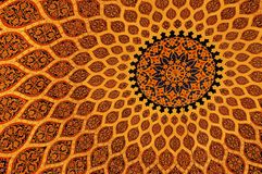 Islamic texture. Ceiling in Ben Batota Mall in UAE Stock Photo