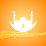 Islamic themed illustration Royalty Free Stock Images