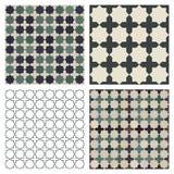 Islamic Tiles. Seamless mosaic Islamic tile patterns royalty free illustration
