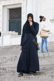Islamic tourist in Rome. Muslim culture, hijab Royalty Free Stock Photos