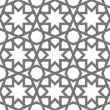Islamic vector geometric ornaments based on traditional arabic art. Oriental seamless pattern Muslim mosaic Turkish tile Royalty Free Stock Images