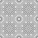 Islamic vector geometric ornaments based on traditional arabic art. Oriental seamless pattern. Turkish, Arabian tile Royalty Free Stock Photos