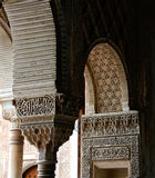 Arched pillars of alhambra granda Stock Photos
