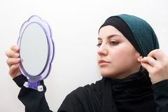 Islamic woman makeup Stock Image