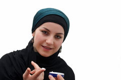 Islamic woman makeup Royalty Free Stock Photo