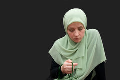 Islamic woman praying Stock Photography