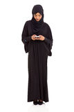 Islamic woman smart phone Stock Image