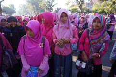 Islamic women activists Stock Photos