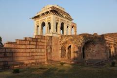 Islamik,历史,建筑学, mahal的asharfi, mandu,中央邦,印度 库存照片