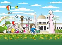 Islamische Kindergarten-Schule Stockbilder