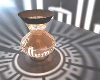 Islamische Lampe 3d Lizenzfreies Stockfoto
