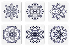 Islamische Mandala auf Hintergrund Stockbild