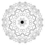 Islamische Mandala auf lokalisiertem Hintergrund Stockfoto