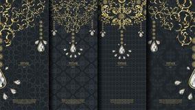 Islamische Musterelement-Konzeptschablone mit Diamantweinlese DA Stockfotos