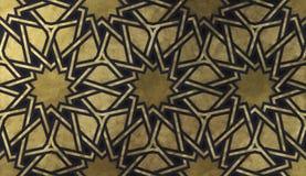 Islamisches dekoratives Muster mit goldener künstlerischer Beschaffenheit lizenzfreies stockbild