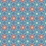 Islamisches nahtloses Muster Vector arabisches geometrisches orientalisches Muster für Feiertagskarten Stockbilder