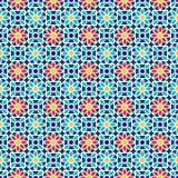 Islamisches nahtloses Muster Vector arabisches geometrisches orientalisches Muster für Feiertagskarten Stockfotos